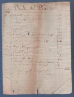1834 / 1835 - FACTURE DE LIVRES ENCRE ET BROCHURES - Imprimerie & Papeterie