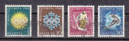 1948 N° 25W à 28W    EMISSION AVEC SUTAXE  OBLITERES   CATALOGUE   ZUMSTEIN - Suisse