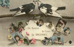 Cpa-un Bonjour Du Cours De Vincennes - Vincennes