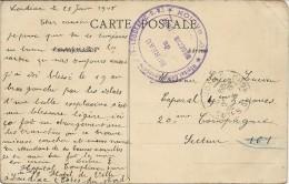HÔPITAL COMPLÉMENTAIRE DE LOUDEAC . 22 - Poststempel (Briefe)