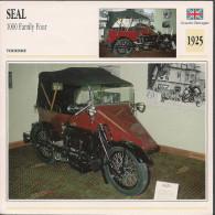 1925 - FICHE TECHNIQUE MOTO - DÉTAIL COMPLET À L´ENDOS - SEAL 1000 FAMILY FOUR - TOURISME - GRANDE BRETAGNE - Motor Bikes