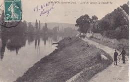 Chatou Animée Velo Charette Quai De Croissy La Grande Ile Attelage A Ane 1910 - Unclassified