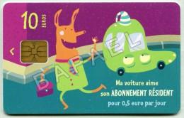Carte De Stationnement (Horodateurs) De France (Paris) (2) (Recto-Verso) (JS) - France