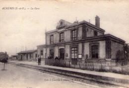 Achères..animée..la Gare..train - Acheres