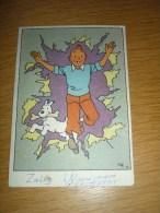 Carte Postale Tintin Et Milou - Postkaart Kuifje  - Hergé - Drukkerij Casterman, Doornik. - Stripverhalen