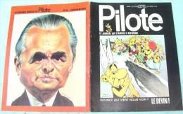 JOURNAL PILOTE ASTERIX 653 1972  LE DEVIN COUV UDERZO ET GOSCINNY CHABAN DELMAS - Pilote
