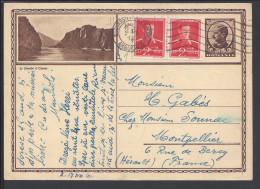 ROUMANIE - 1940 - CARTE ENTIER POSTAL ILLUSTRE, DE BUCAREST AVEC COMPLEMENT D´AFFRANCHISSEMENT POUR  MONTPELLIER - FR - - Ganzsachen