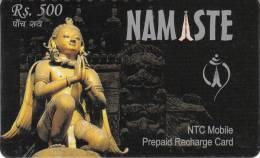 NEPAL - NAMASTE - Rs.500 - NTC MOBILE - Nepal