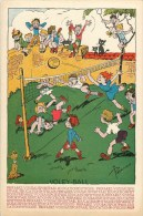 Volleyball - Illustrateur; Pellos - CP En Très Bel Etat (voir 2 Scans) - Volleyball