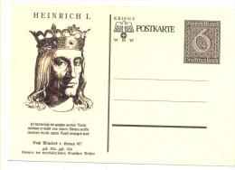 DEUTSCHES REICHS HEINRICH I POSTKARTE - Deutschland