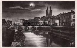 79 - Niort L'église St André Et Le Vieux Pont (claire De Lune). - Niort