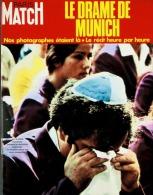 Paris Match N°1219 - Jeux Olympiques De Munich : Drame De Munich Et Massacre De L'equipe Israelienne - 16 Septembre 1972 - Testi Generali
