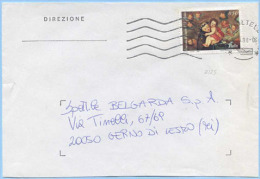 1955 NATALE L. 850 (2175) ISOLATO BUSTA  19.6.98  TIMBRO DI ARRIVO E OTTIMA QUALITÀ (5932) - 1946-.. République