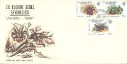 Seychelles - FDC 1981 - Wildlife Animals - Seychelles (1976-...)