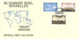 Seychelles - FDC 1982 - Aldabra - World Heritage Site - Seychelles (1976-...)