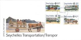 Seychelles - FDC 1982 - Seychelles Transportation - Seychelles (1976-...)