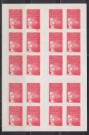 = Défaut Essuyage Type Marianne De Luquet Dite Du 14 Juillet, TVP. Carnet  X20, Autocollant, Rouge, N° 3085-C5 - Carnets