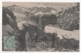 BAREGES Après L'avalanche Du 2 Février 1907 - Entrée De La Ville Et Le Nouvel Hôtel - France