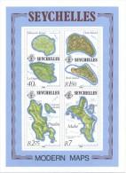 Seychelles 1982 - Block - Modern Maps - Seychelles (1976-...)