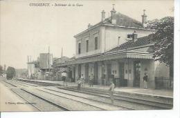 COMMERCY - INTERIEUR DE LA GARE ( Animées + Tampon Militaire : HOPITAL AUXILIAIRE N° 108 ) - Commercy