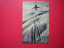 CPA LES SPORTS D´HIVER EN DAUPHINE LE SKI MONTEE OBLIQUE EN ESCALIERS  VOYAGEE 1930  TIMBRE - Sports D'hiver