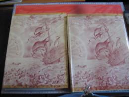 2 Albums BELGEN  OVERZEE Van HISTORIA ARTIS Meurisse : Deel 1 (kompleet) En Deel 2 (-2 Prenten  ) Artist Thiriar RARE - Chocolate