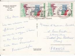 Répoblika Malagasy Sur Les Pistes Sud Tropique Du Capricorne-Timbre Admission  L'O.N.U 20-09-1960-Stamp-Stempel-Tampon - Madagascar (1960-...)