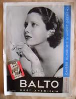 Publicité Pour Cigarettes Recto-verso : Gitanes / Balto  -  1937 - Tabac - Documents
