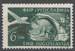 Yugoslavia Republic 1951 Airmail Mi#653 Mint Hinged - 1945-1992 Socialistische Federale Republiek Joegoslavië