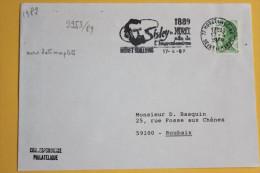 77 Seine Et Marne - Flamme 1989 - MORET SUR LOING - 1889 Sisley à Moret Site De L´impressionnisme - Postmark Collection (Covers)