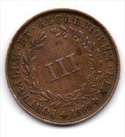 Portugal - III Reis (D.LUIS I ) 1868, Cobre -EF - Portugal