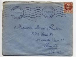 1943--Lettre De ANGOULËME-Charente Pour PARIS--Krag Sur Tp Pétain Type Bersier 1F50--courrier Joint - Marcophilie (Lettres)
