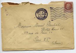 1942--Lettre De ANGOULËME-Charente Pour PARIS-Oblitération 7 Ondulations Sur Tp Pétain Type Bersier 1F50--courrier Joint - Marcophilie (Lettres)