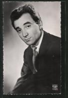 CPA Portrait Des Musikers Charles Aznavour Im Anzug - Muziek En Musicus