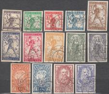 Yugoslavia, Kingdom SHS, Issues For Slovenia 1919 Mi#99-112 II Imperforated Complete Set, Kranj Cancel - Unused Stamps
