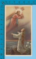 K26 ( Jeune Femme Imaginant Jésus Et Sa Croix ) Holy Card Image Pieuse Santini 2 Scans - Images Religieuses