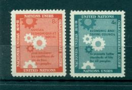 Nations Unies New York 1958 - Michel N. 72/73 - Journée Des Nations Unies - New York -  VN Hauptquartier