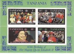 TANZANIA, 1986 QUEENS B/DAY M/SHEET MNH - Tanzania (1964-...)