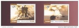 2 STAMPS CAPELINHOS FAIAL AZORES AÇORES PORTUGAL PHARE PHARES LIGHTHOUSE LIGHTHOUSES VOLCAN VOLCANS - Volcanos