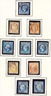 FRANCE, PETIT LOT DE TIMBRES CLASSIQUES. (4M18) - Collections