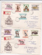 Hungary 1961 Zoos Registered  FDCs Sent To Australia - FDC