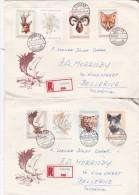 Hungary 1966 Fauna Registered  FDCs Sent To Australia - FDC