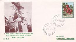 Vatican City 1969 Pope Visit Bassiano Souvenir Cover - Vatican