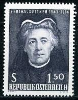 Österreich - Michel 1199 - ** Postfrisch - Bertha Von Suttner - 1945-.... 2nd Republic