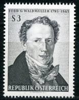 Österreich - Michel 1193 - ** Postfrisch - Ferdinand Georg Waldmüller - 1945-.... 2ª República