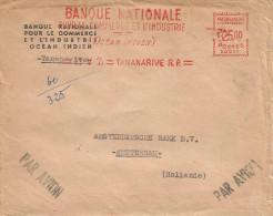 "Madagascar 1955 Tananarive RP Meter Franking Satas ""SD"" 0011 EMA Cover - Lettres & Documents"