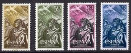España 1956. Aniversario Alzamiento Nacional. ED 1187 / 1190. MNH. **. - 1931-Hoy: 2ª República - ... Juan Carlos I
