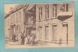 OORLOG 1914 - 1915 - RUINES  DE  POPERINGHE - RUE  DE  FURNES   -  BELLE CARTE   ANIMEE  - - Poperinge
