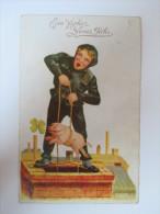 """AK Künstlerkarte 1.1.1930 """"Ein Frohes Neues Jahr"""" Schornsteinfeger Mit Glücksschwein Verlag AR I.B. 3897 - Neujahr"""