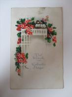 """AK / Künstlerkarte 1929 """"Viel Glück Zum Geburtstage"""" Blumen / Vögel Verlag AR I.B. 9016 Import - Geburtstag"""